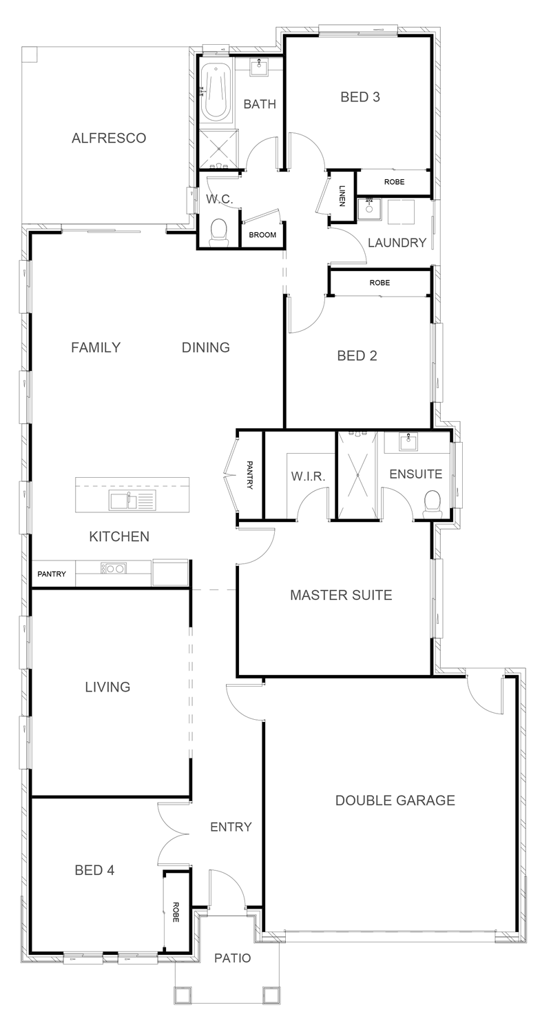HUNTER 214 Floor Plan
