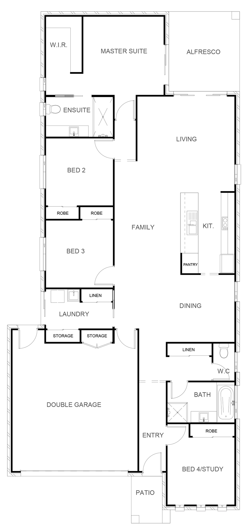 KENSINGTON 203 Floor Plan