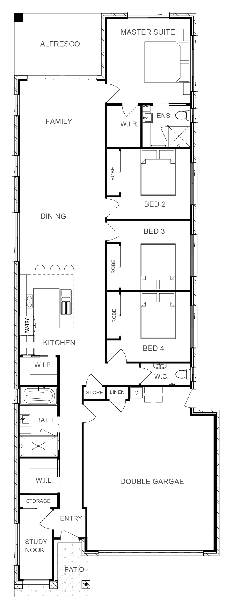 NEBRASKA 196 Floor Plan