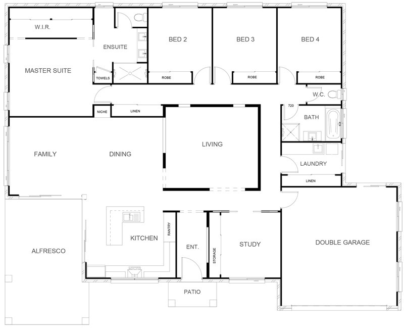 WILLOW 278 Floor Plan